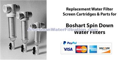 Boshart Spin Down Screen Water Filters